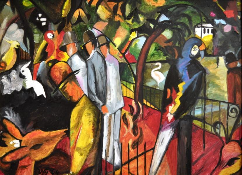 Zoologischer Garten (nach Macke), Gemälde